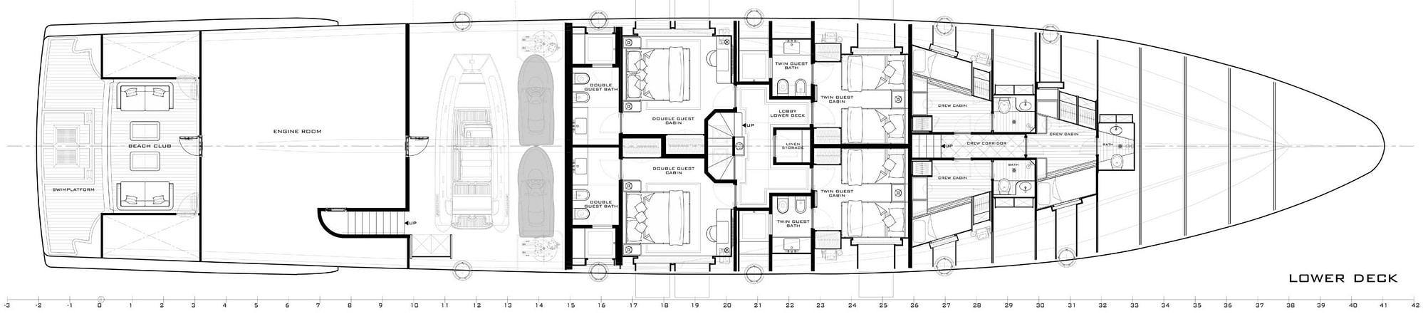 gulf craft majesty 140 layout lower deck