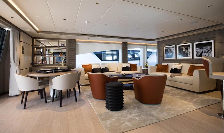 gulf craft majesty 140 price yacht for sale interior design by christiano gatto lower deck