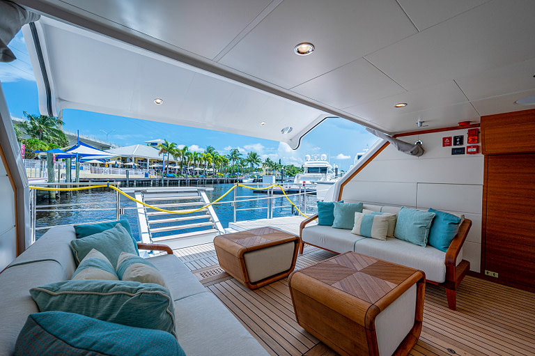 gulf craft majesty 140 price yacht for sale exterior beach club floating balcony