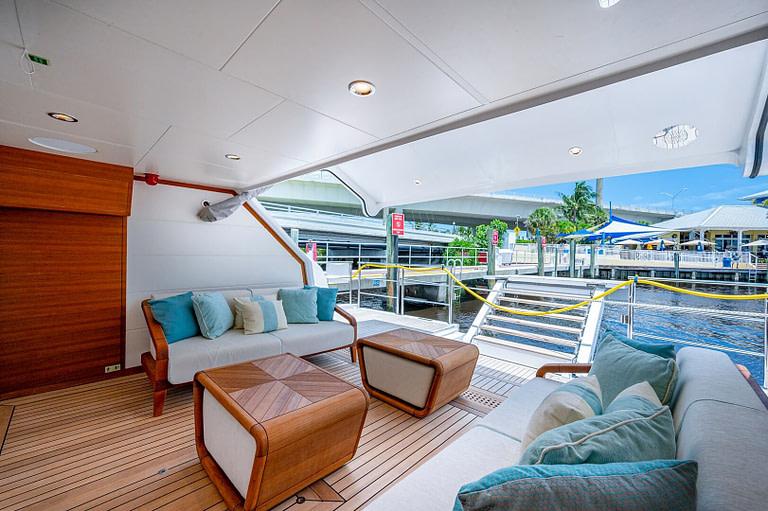 gulf craft majesty 140 price beach club floating balcony