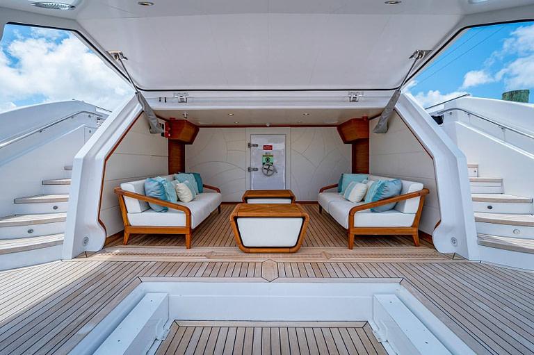 gulf craft majesty 140 price beach club floating balcony garage