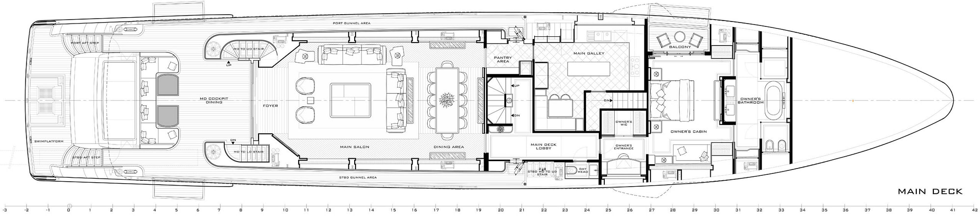gulf craft majesty 140 layout main deck