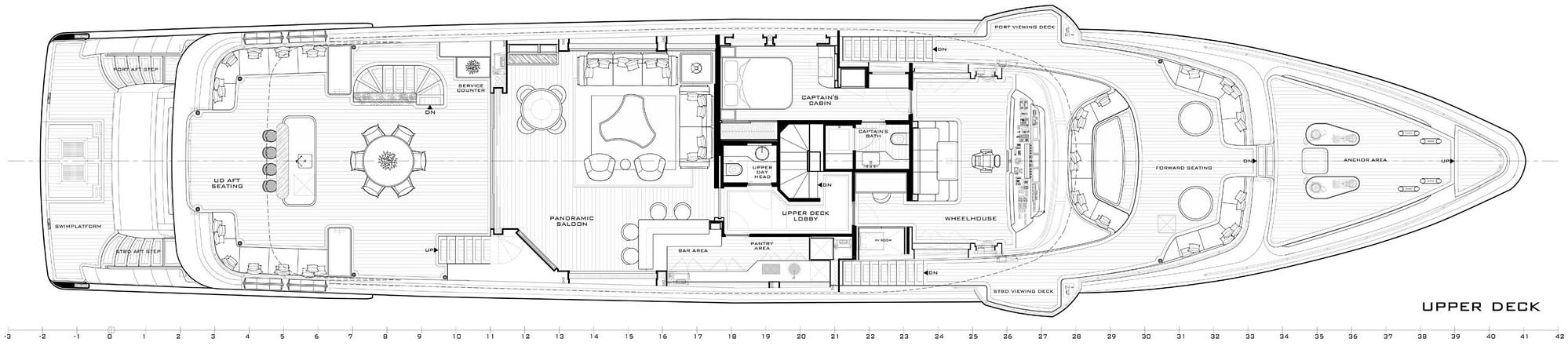 gulf craft majesty 140 layout upper deck