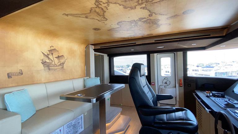 gulf craft majesty 140 price yacht for sale interior wheelhouse