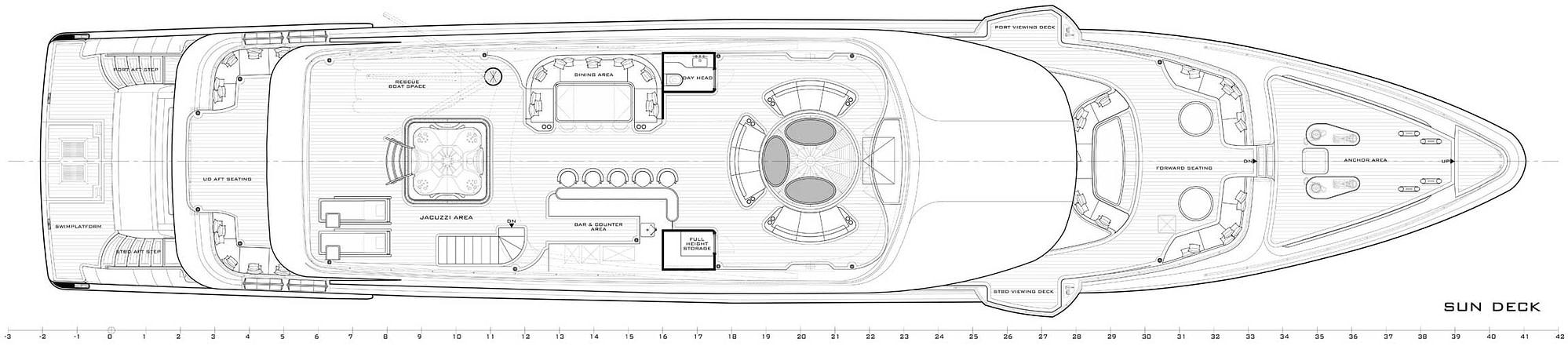 gulf craft majesty 140 layout sun deck