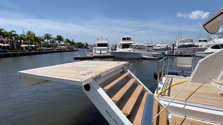 gulf craft majesty 140 price exterior unique feature floating deck