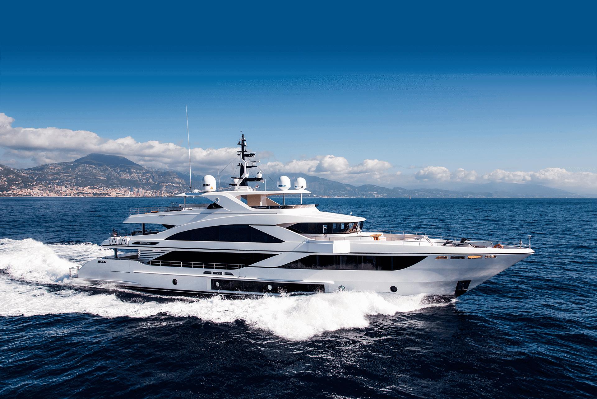 gulf craft majesty 140 price yacht for sale exterior cruising